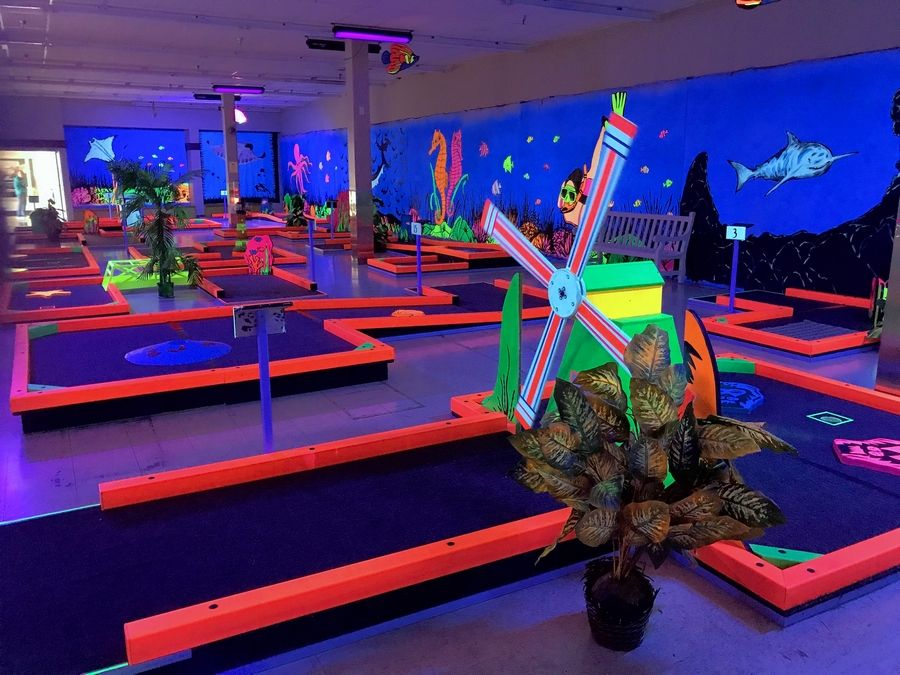 Glowgolf is returning to Hawthorn Mall in Vernon Hills after a five-year absence. The glow-in-the-dark miniature golf course will feature 27 holes.