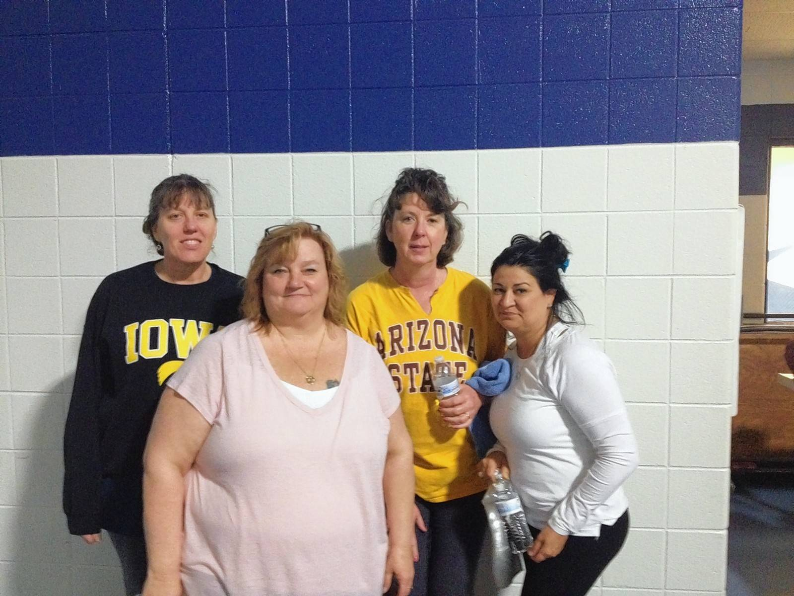 Team Cast-a-Weighs of Benefit were express dancing and sweating the night away during the Zumba Party at Elk Grove Fitness Pavilion. From left to right, Ann Haller, Jennifer Mogytych, Donna O'Donnell, and Maddie Garcia.