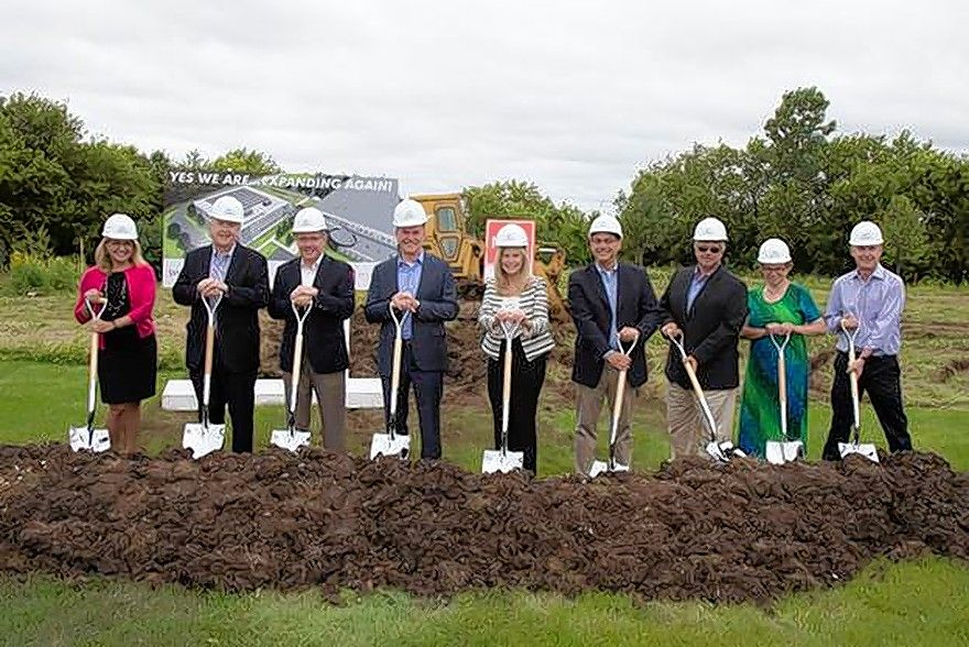 Executives from Wauconda-based Synergy Flavors broke ground on a new corporate campus building in Wauconda that should be complete this summer.