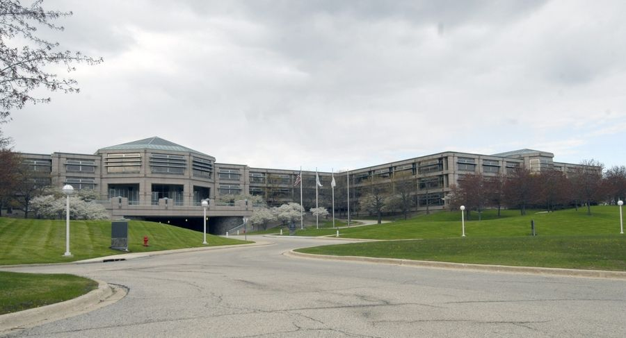 The former corporate headquarters of AT&T in Hoffman Estates.