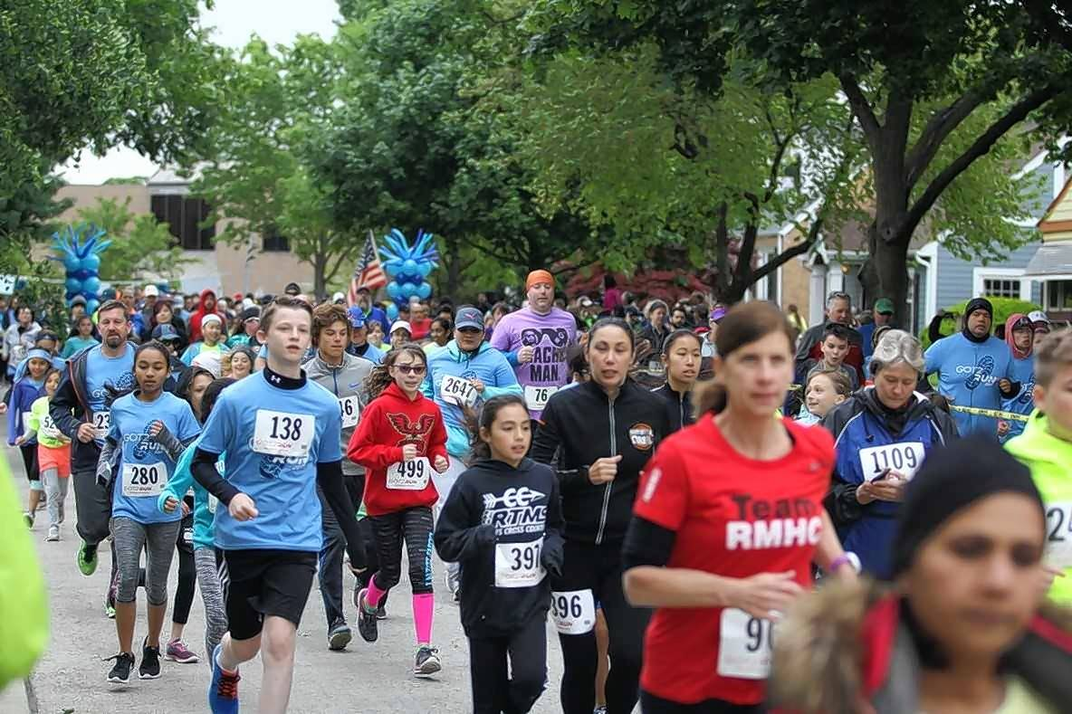 Participants of last year's Got2Run for Education event pound the pavement. The seventh annual Got2Run for Education run/walk will be Saturday, May 19, in Arlington Heights.