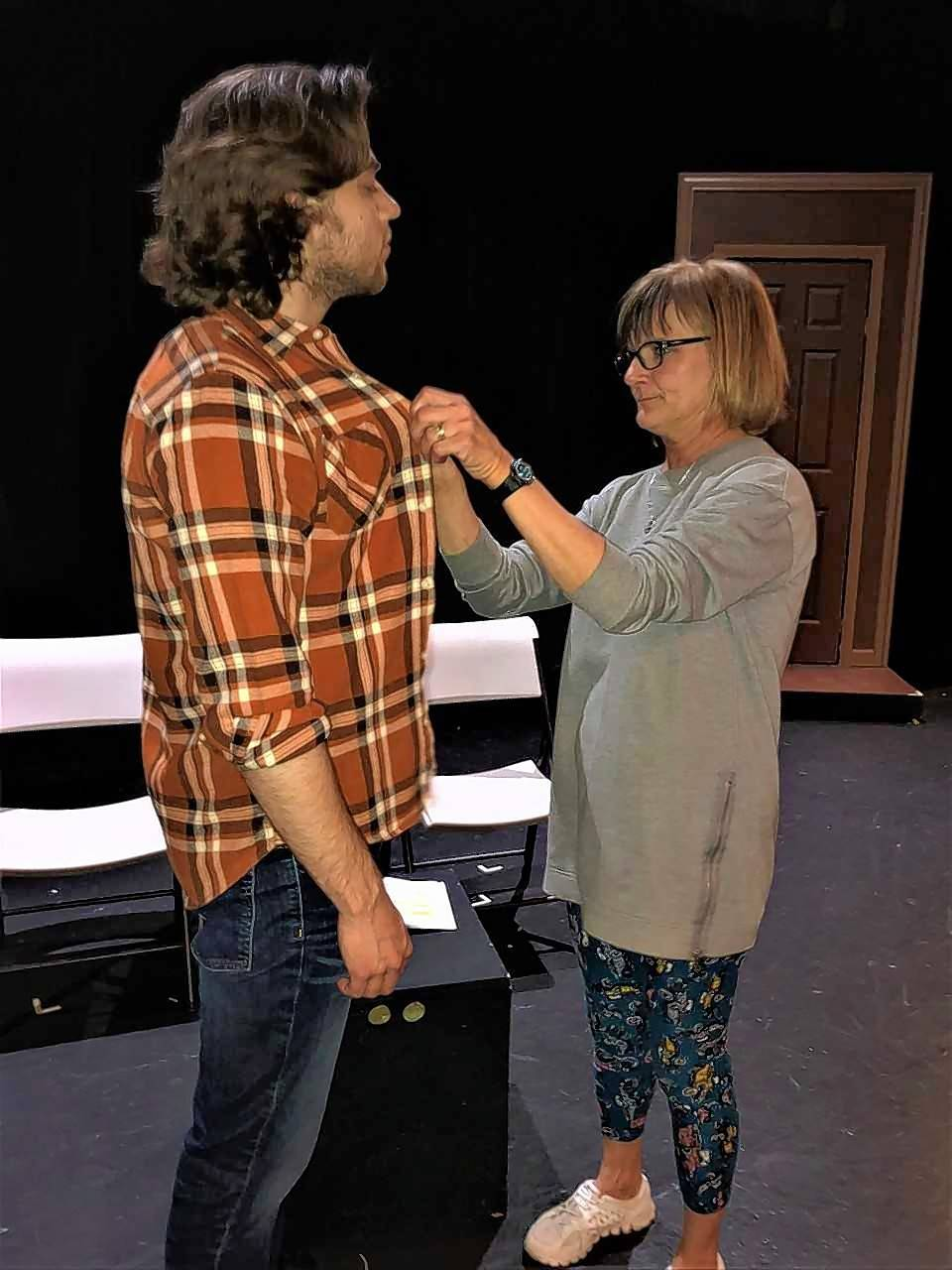 "Jo Ann Smith portrays Vera and RJ Cecott is Leo in Steel Beam Theatre's production of ""4,000 Miles."""