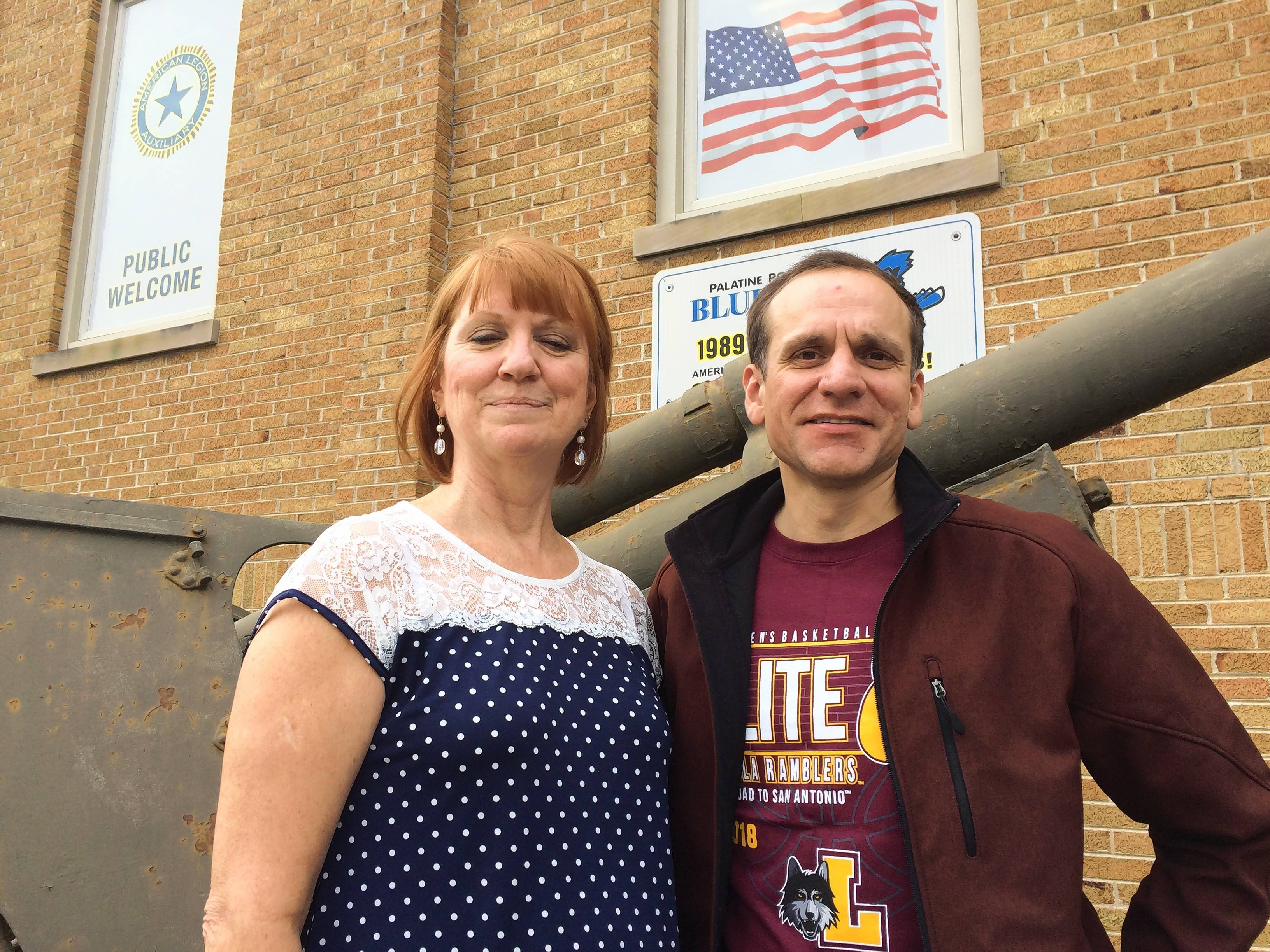 Eileen McKevitt, a member of the Palatine American Legion Post 690 auxiliary and U.S. Navy veteran Ed Behrens, a member there, helped organize an effort that resulted in donations of at least 2,000 household supplies for an organization helping homeless vets move into permanent residences.