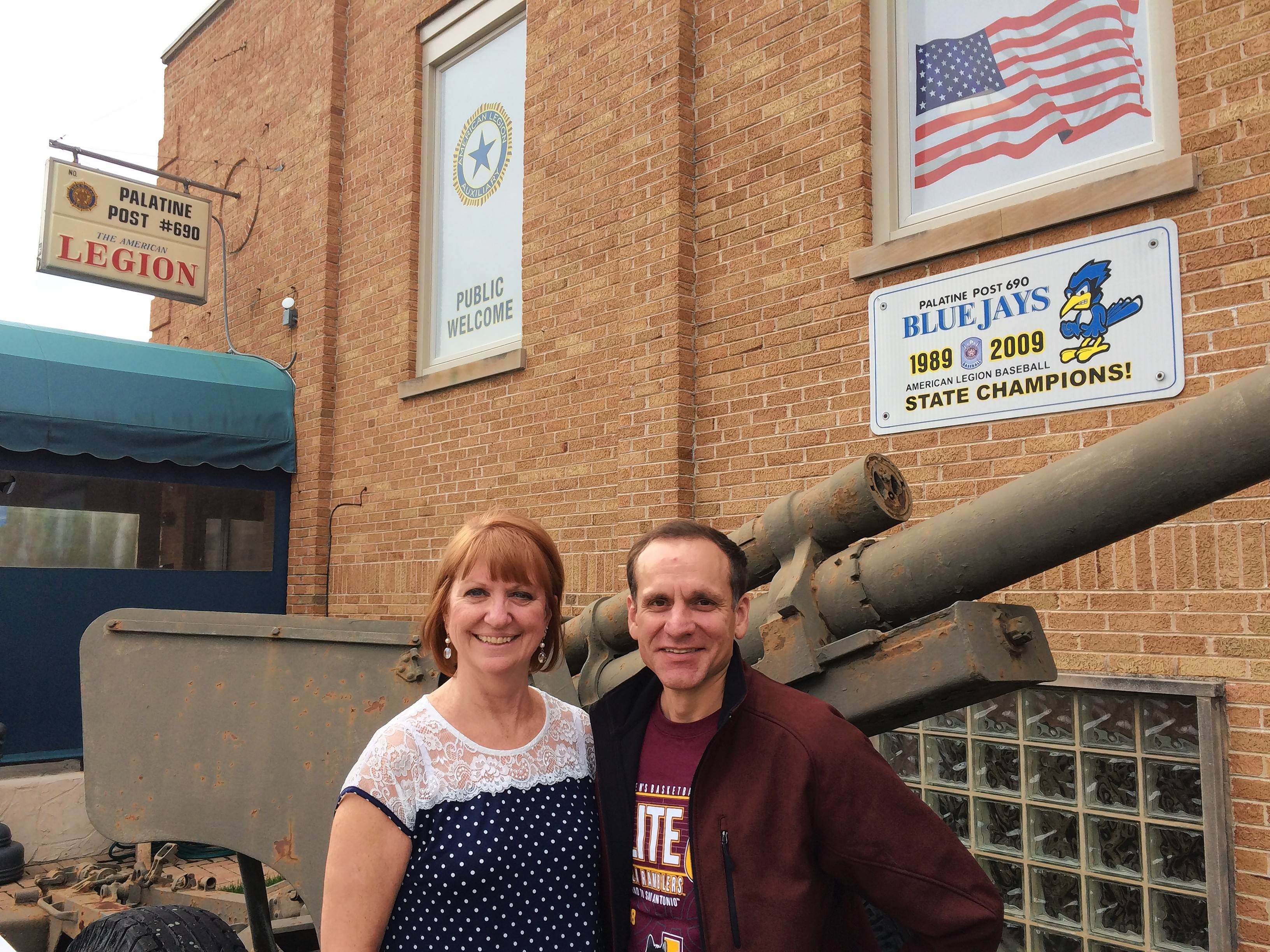 Eileen McKevitt, a member of the Palatine American Legion Post 690 auxiliary, and U.S. Navy veteran Ed Behrens, a member there, helped organize an effort that resulted in donations of at least 2,000 household supplies for an organization helping homeless vets move into permanent residences.