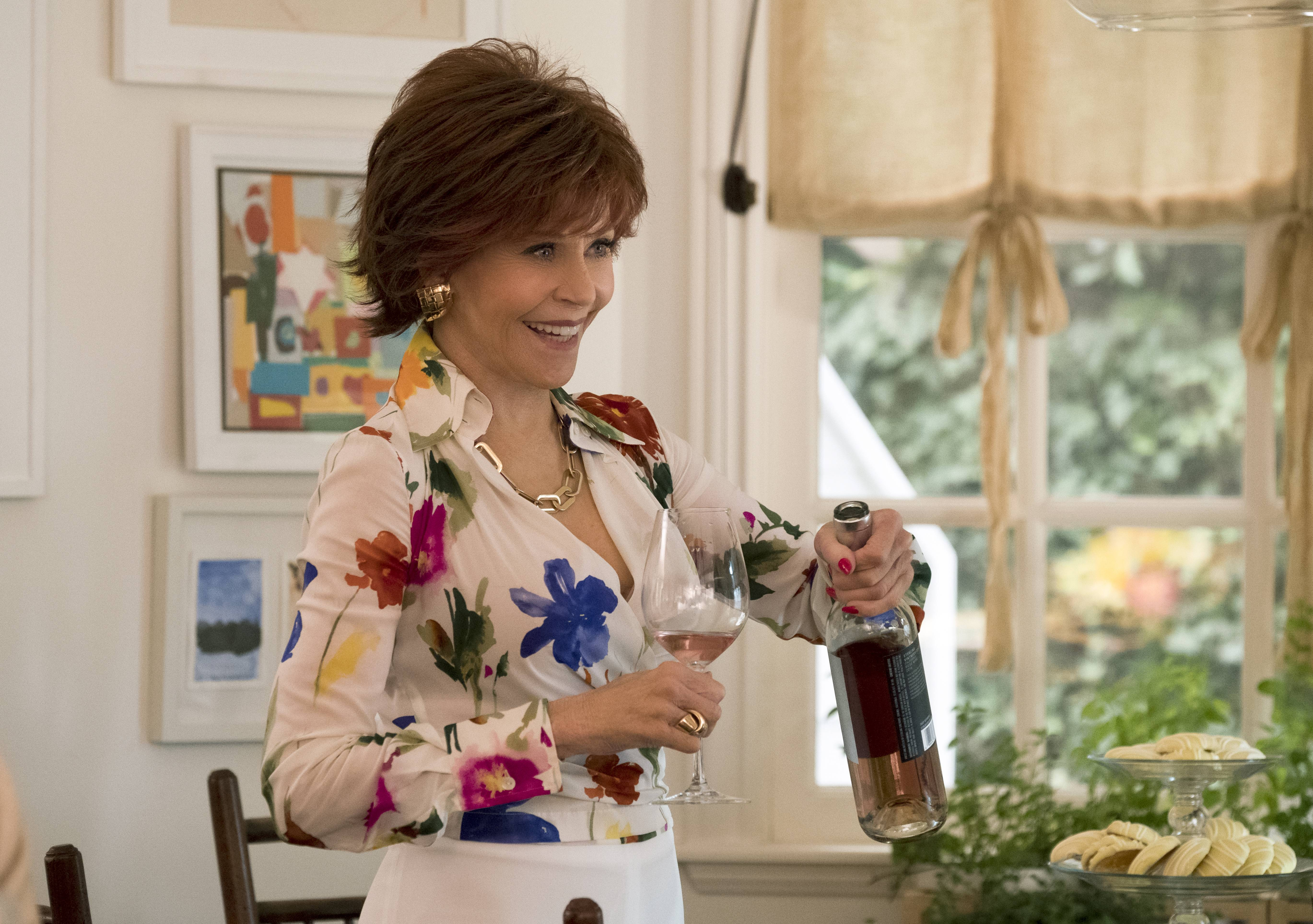 "Vivian (Jane Fonda) spices things up with a risque reading selection in ""Book Club."""