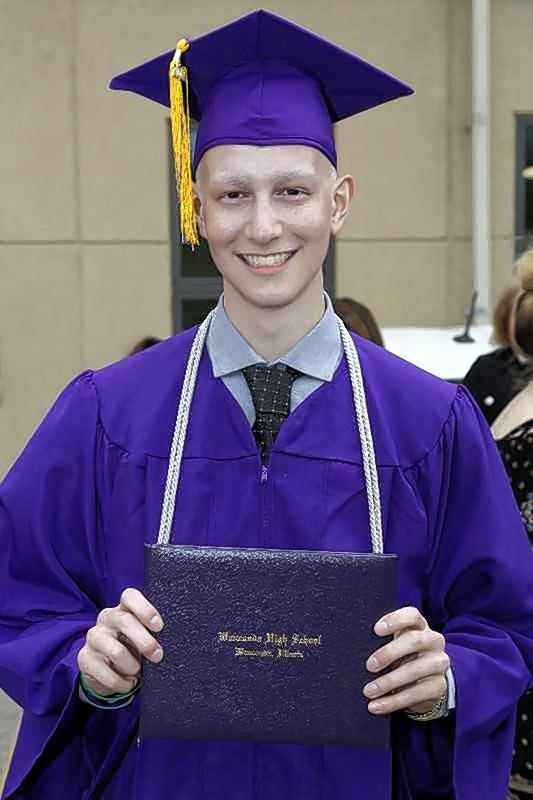 Wauconda's Pierson Gibis, ready for a very special graduation last spring.