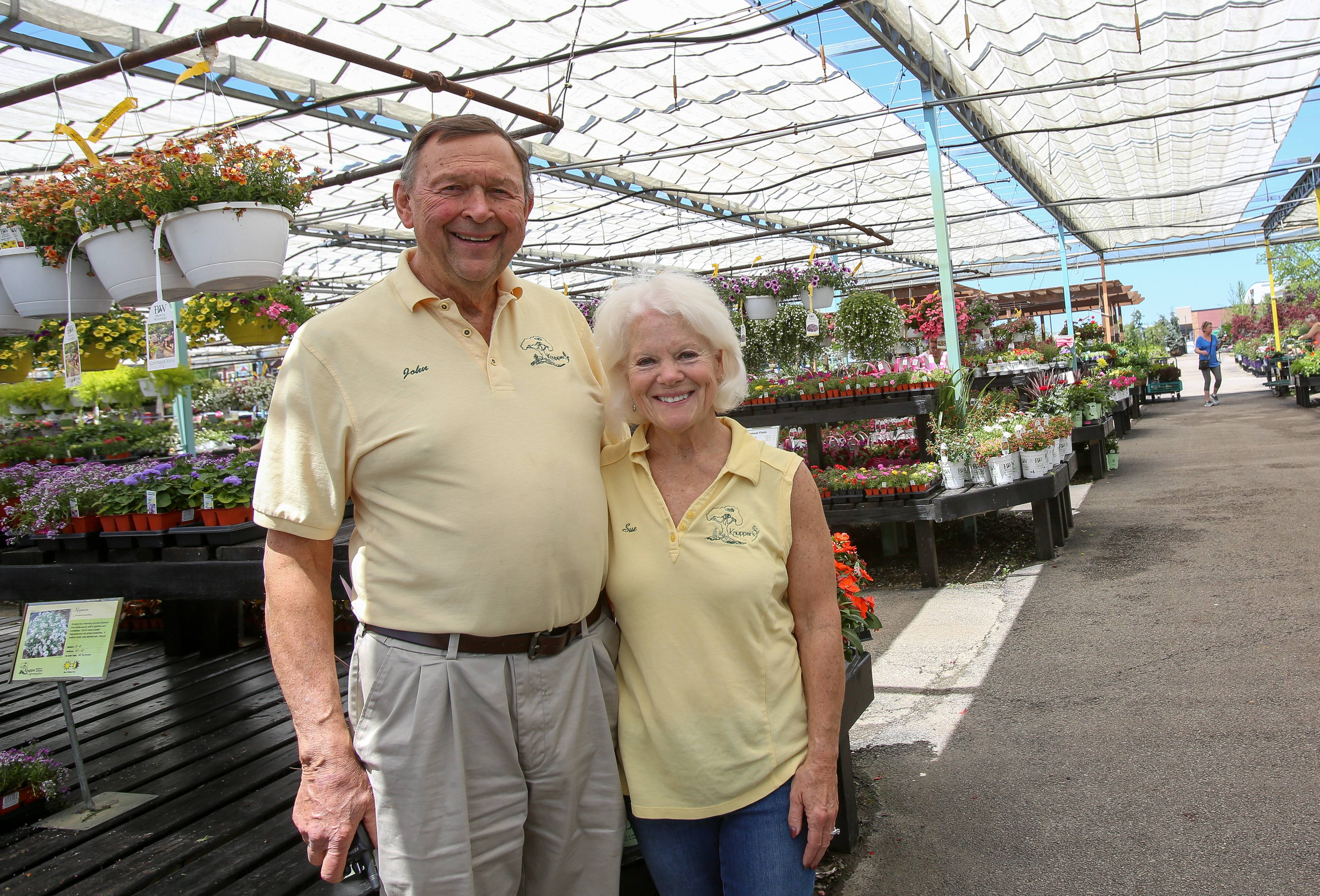 John Heaton, with his wife Sue, has owned Knupper Nursery & Landscape in Palatine since 1968. They are closing the center on June 16 after selling their Rand Road property to an auto dealership.