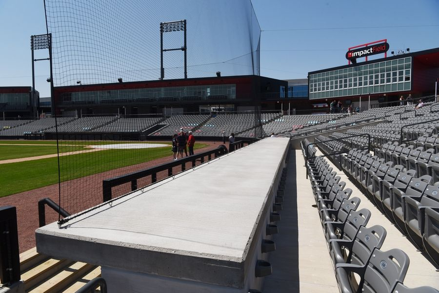 Like all 30 major league stadiums and many of its independent league peers, the new Impact Field in Rosemont has protective netting that stretches from behind home plate to the outer edge of the dugouts.