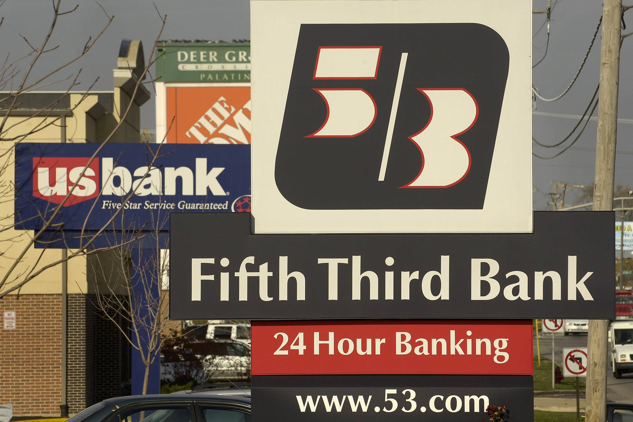 Fifth Third Bancorp is buying Rosemont's MB Financial for about $4.7 billion, mostly in stock.