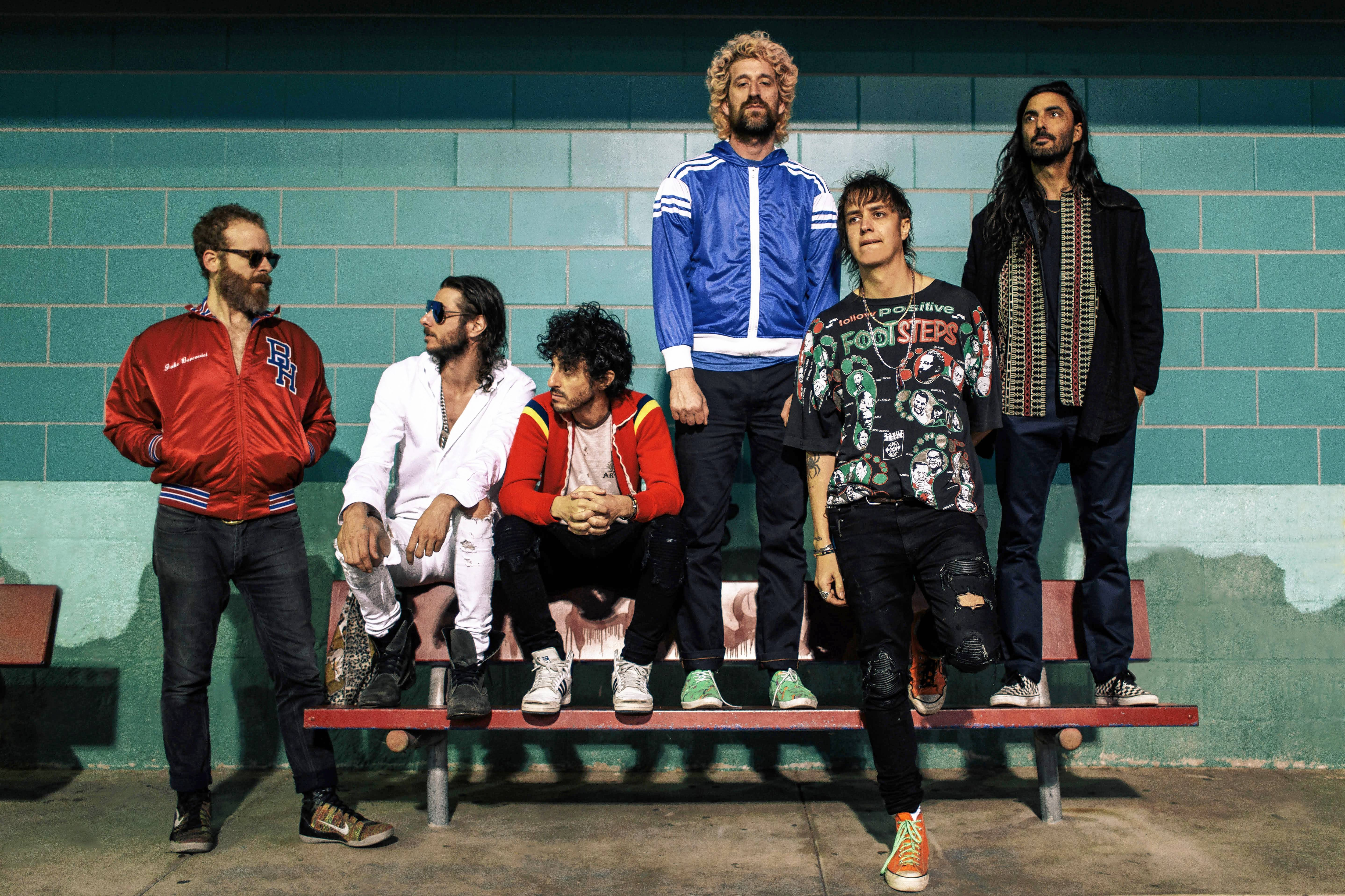 Julian Casablancas, second from right, fronts the Voidz.