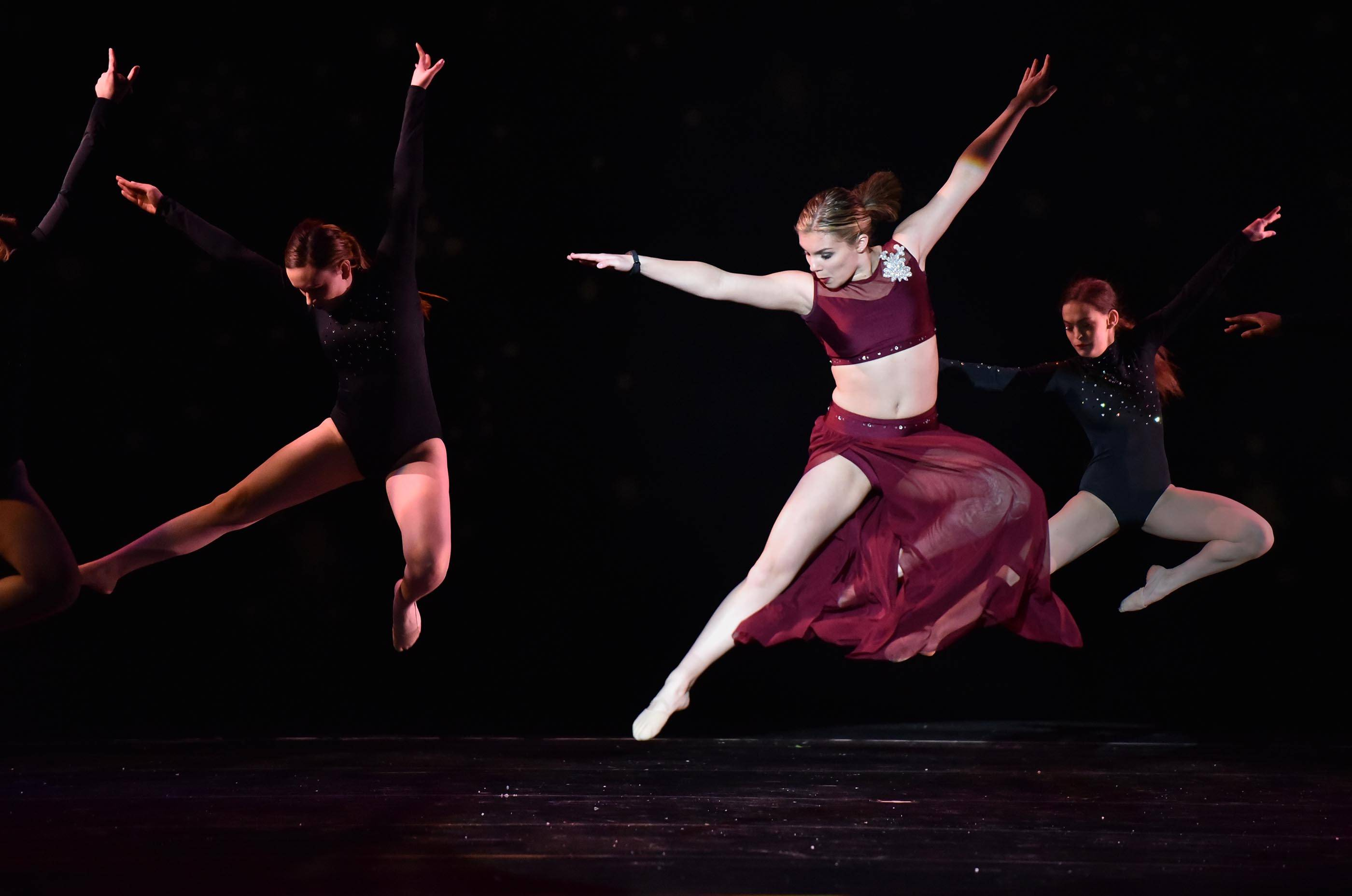 Sydnie Babicz dances in the lead at a show earlier this year featuring 31 students at Larkin High School in Elgin, which hosts Elgin Area School District U-46's Visual and Performing Arts Academy. District officials are considering creating more high school career academies and pathways.