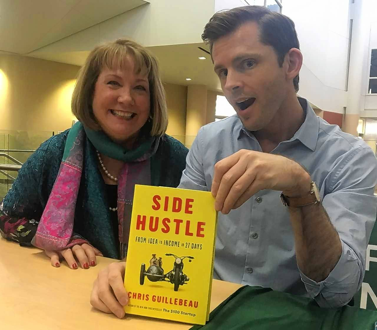 "Business Coach Vickie Austin recently met with author Chris Guillebeau, who wrote ""Side Hustle: From Idea to Income in 27 Days."" Guillebeau maintains that everyone should have a side hustle, expanding our sources of income and giving us freedom and opportunity as well as financial security."