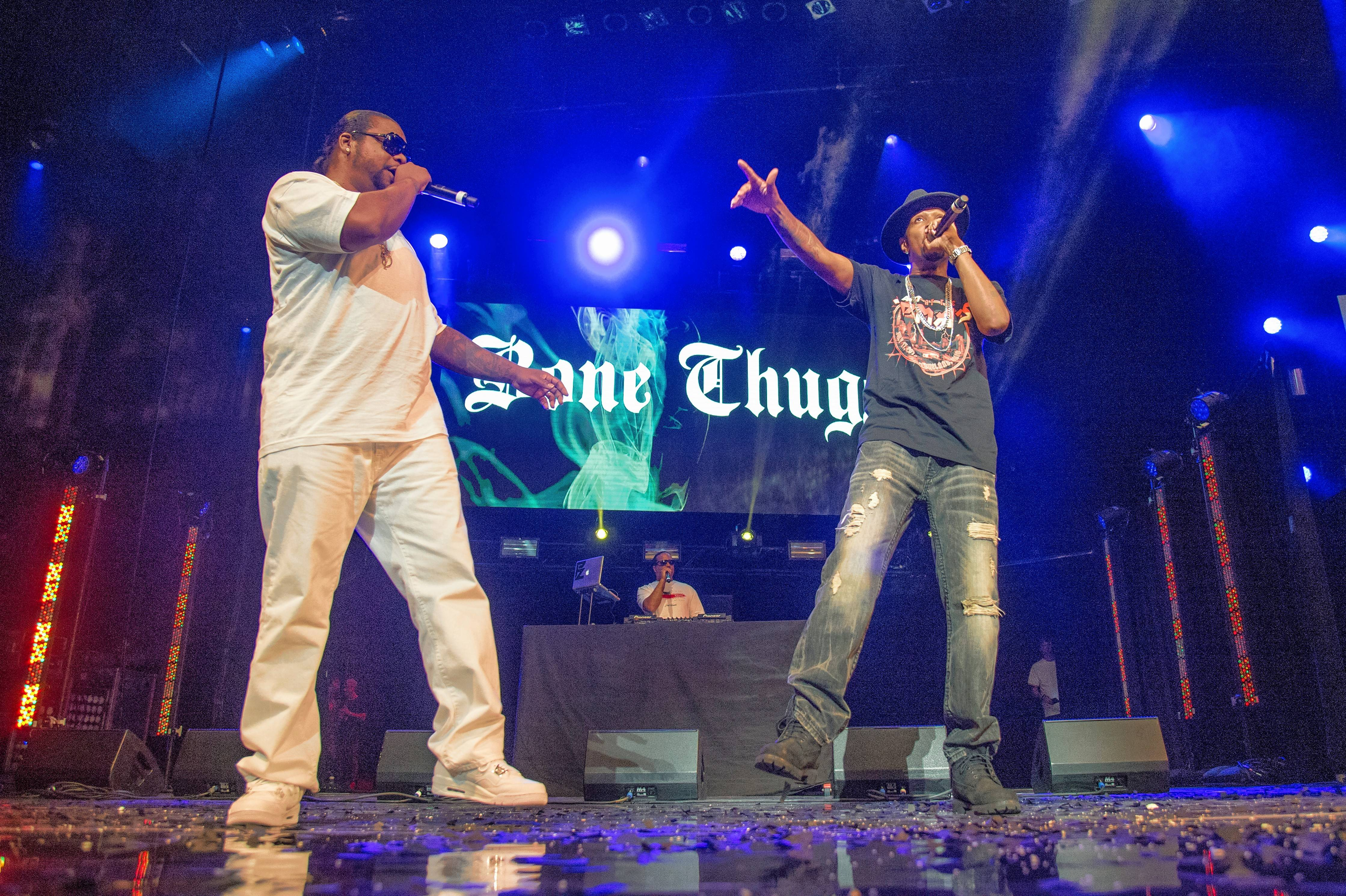 Wish Bone, left, and Krayzie Bone of Bone Thugs-N-Harmony head to Lisle's BaseCamp Pub Friday, May 25.