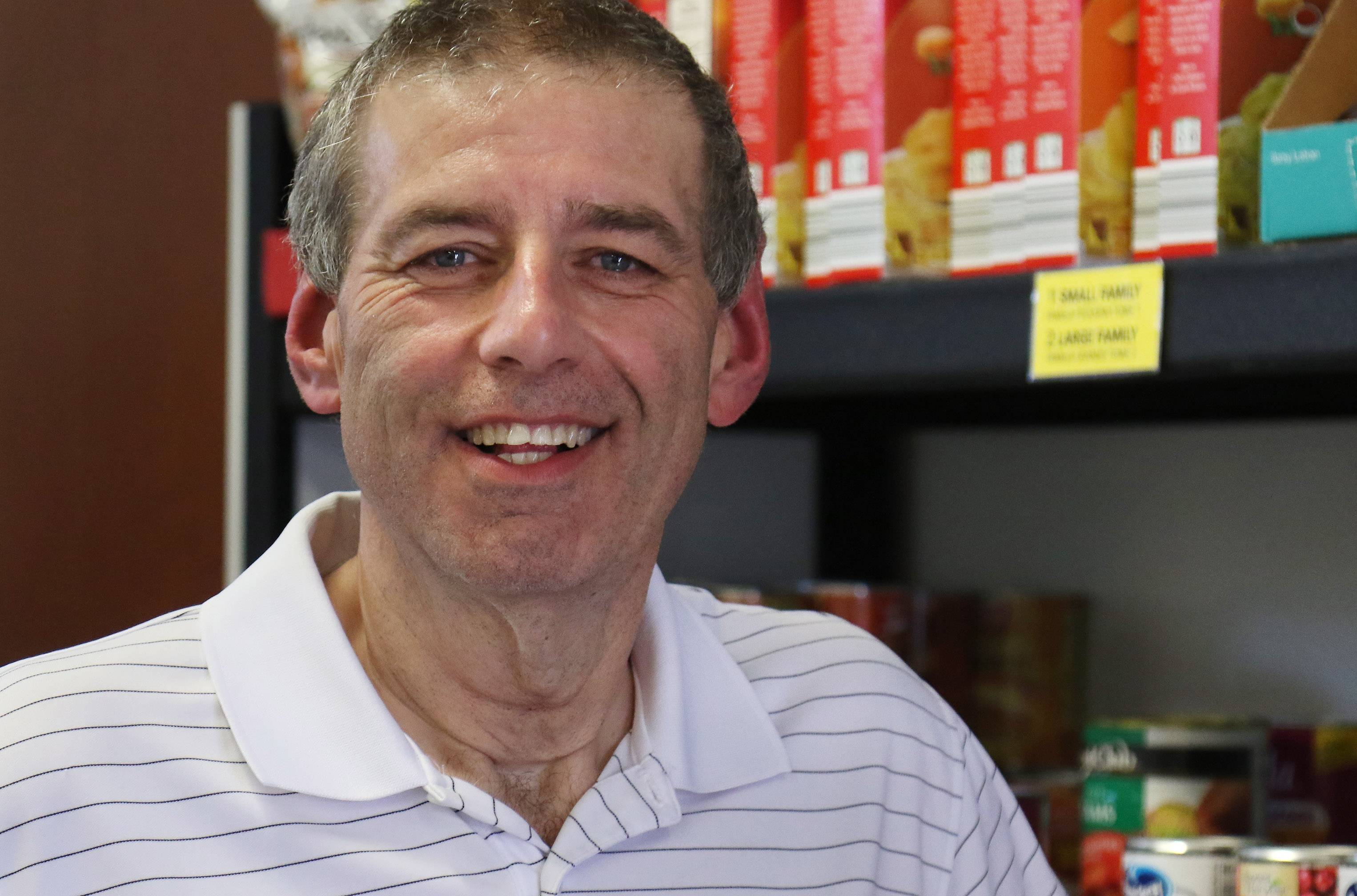 Wauconda resident Kevin Barnes is vice president on the board of the Wauconda-Island Lake Food Pantry. He says cancer has given him more compassion for others.