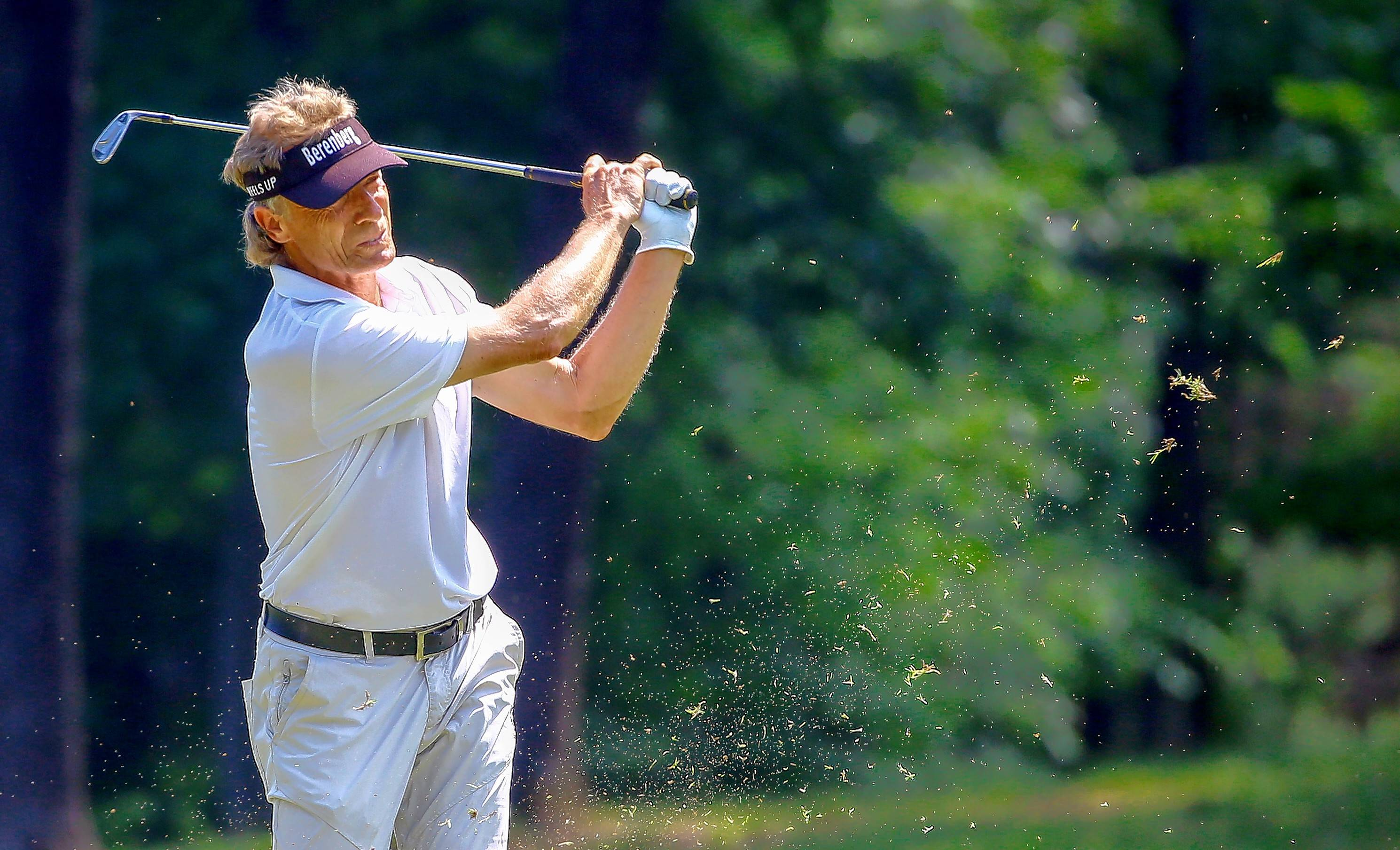 Bernhard Langer finished 11th at the Regions Tradition tournament on Sunday in Birmingham, Ala. He'll miss the Senior PGA Championship in Michigan to attend his son's graduation.