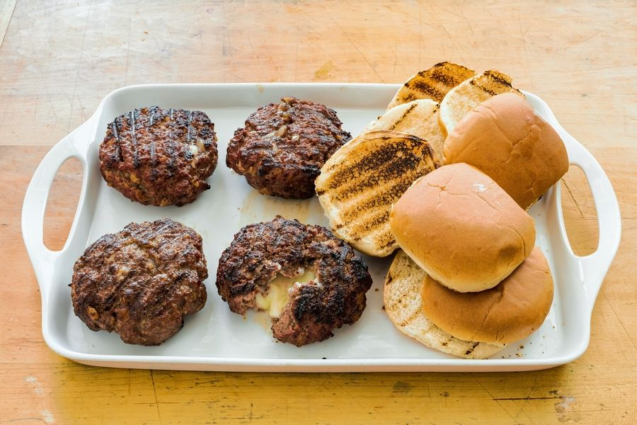 Jucy Lucy burgers.