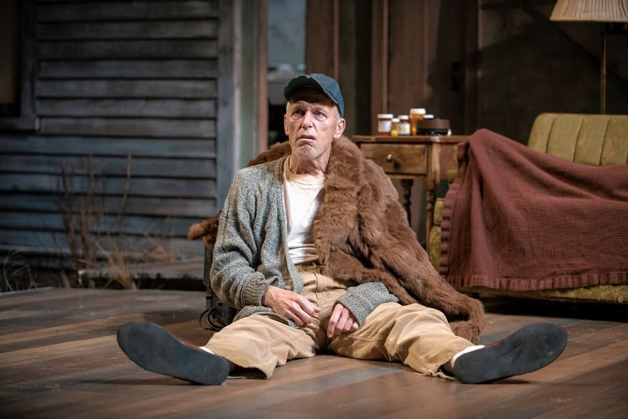 "Larry Yando plays Dodge, patriarch of a dysfunctional Illinois family, in Writers Theatre's revival of ""Buried Child"" by Sam Shepard."
