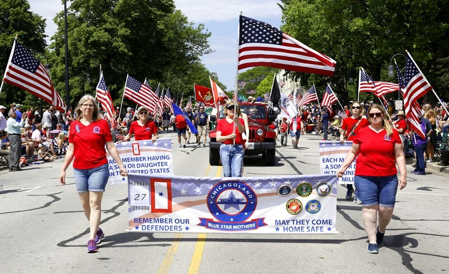 American flags will be on proud display during the Naperville Memorial Day Parade beginning at 10:30 a.m. Monday along Jackson Avenue, Washington Street and Benton Avenue through the city's downtown.