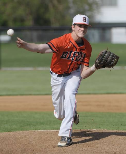 Buffalo Grove Pitcher Tj Constertina Delevers A Pitch Against Grayslake North During The Palatine Regional Semifinal