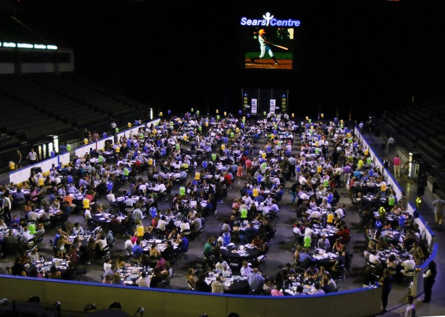 The Daily Herald Preps Sports Excellence Awards at the Sears Centre Arena in Hoffman Estates in 2017 drew about 1,000 people who attended the banquet to recognize the best athletes and coaches in the area for that school year.