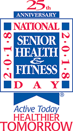 25th Anniversary of National Senior Health & Fitness Day will be celebrated from 8:30 a.m.-noon Wednesday, May 30, at the Arlington Heights Senior Center, 1801 W. Central Road, Arlington Heights.