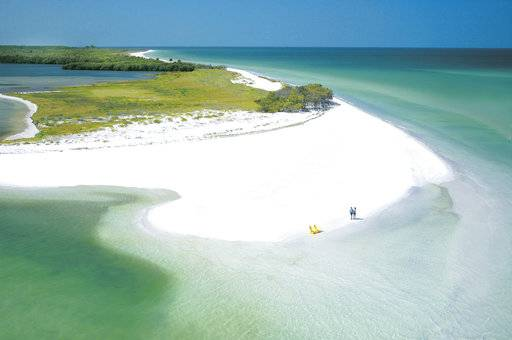 This undated photo provided by Visit Florida shows Caladesi Island State Park in Dunedin, Florida. The beach is No. 7 on the list of best beaches for the summer of 2018 compiled by Stephen Leatherman, also known as Dr. Beach, a professor at Florida International University. (St. Petersburg/Clearwater Area CVB via AP)
