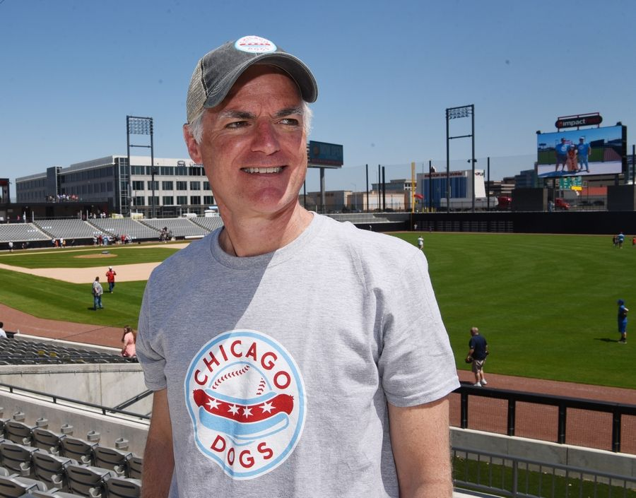"Shawn Hunter, co-owner of the Chicago Dogs, called the team's location in Rosemont among the ""best in America"". They play at the $63 million, 6,300-seat Impact Field, which opened Friday."