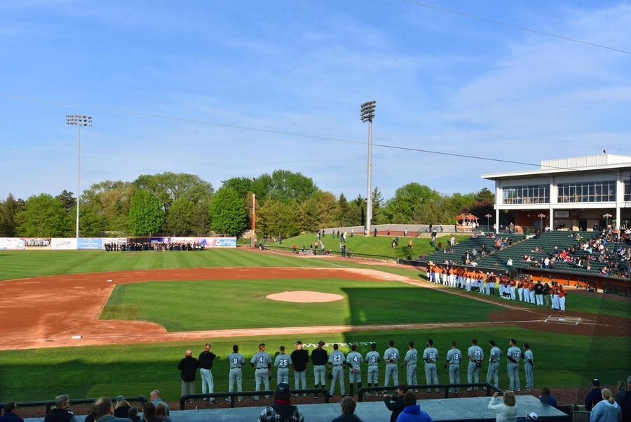 Now in their seventh season, the Schaumburg Boomers held their home opener last week in Schaumburg. While they may not get to compete on the field with the new Chicago Dogs franchise in Rosemont, they may be going after some of the same suburban fans.