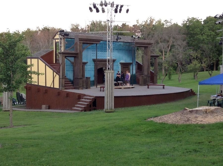 "The outdoor stage at the Mayslake Peabody Estate in Oak Brook will host the world premiere of ""SHREW'D: Shakespeare's Bawdiest Comedy … with a Modern Twist"" this summer."