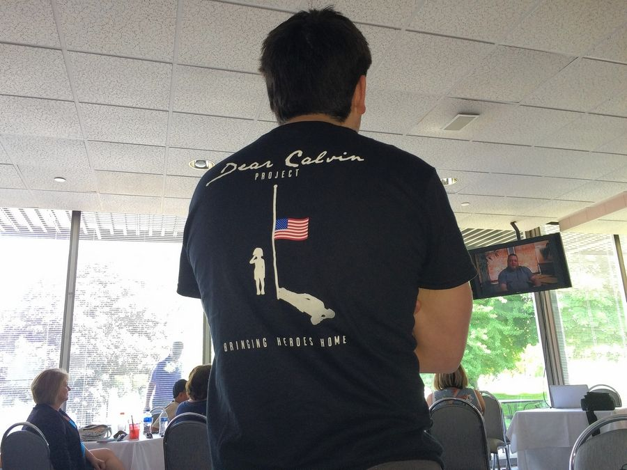 A video about a Marine who died in Afghanistan in 2013 shown Saturday at Old Orchard Country Club in Mount Prospect was the debut Saturday of the nonprofit Dear Calvin Project.