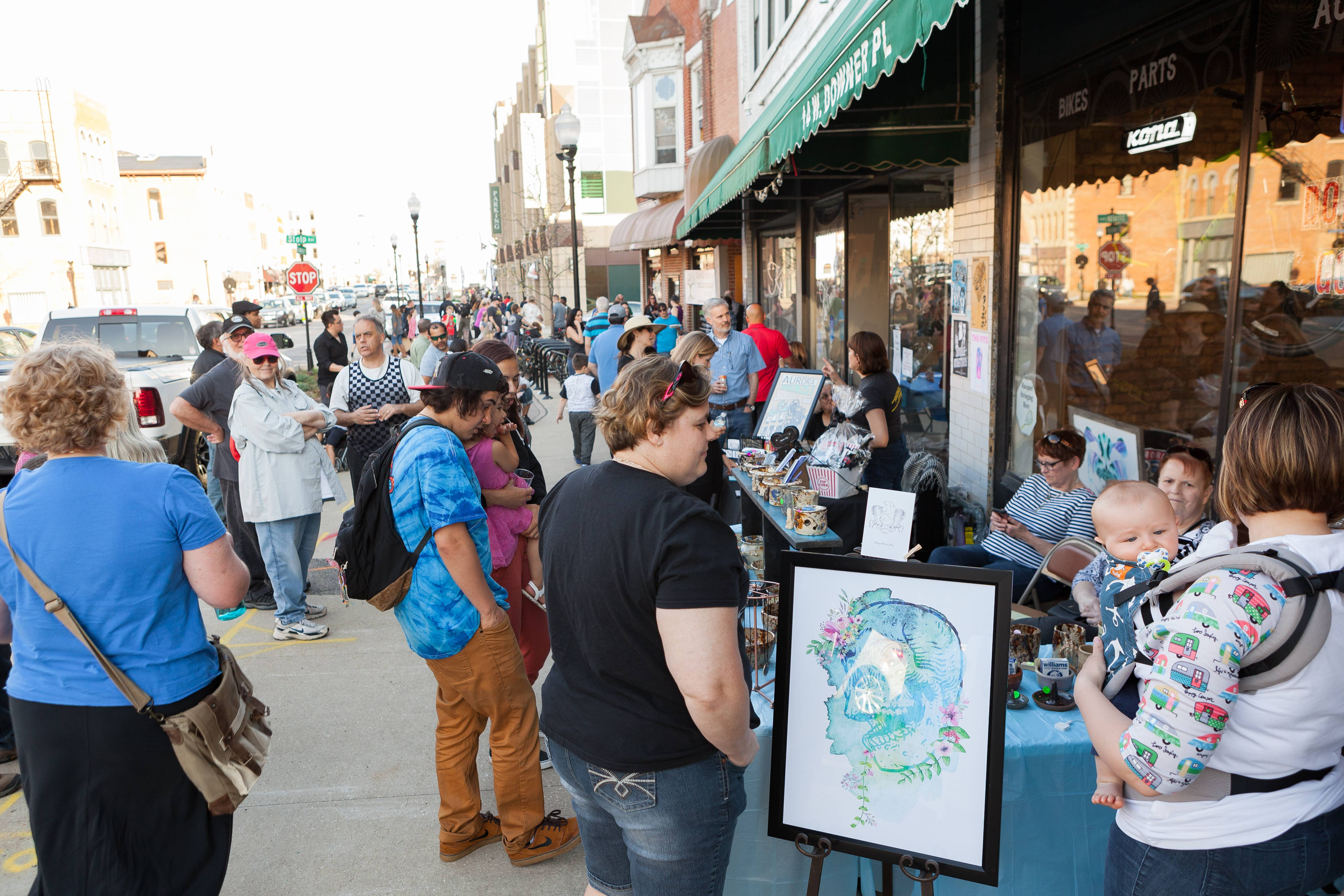 First Fridays returns on June 1 with an official Illinois Bicentennial Birthday Bash and more than 20 venues filled with art, music and more in downtown Aurora.