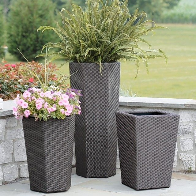 Containers bring your landscaping up onto the deck or patio.