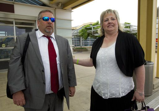 Laurie and Jason Holt arrive at Ronald Reagan Washington National Airport in Arlington, Va., Saturday, May 26, 2018 to meet their son, Joshua Holt, who is on a flight to the U.S. Joshua was jailed in Venezuela on weapons charges nearly two years ago and was released Saturday after U.S. Sen. Bob Corker, R-Tenn, pressed for his freedom in a surprise meeting with Venezuelan President Nicolas Maduro.