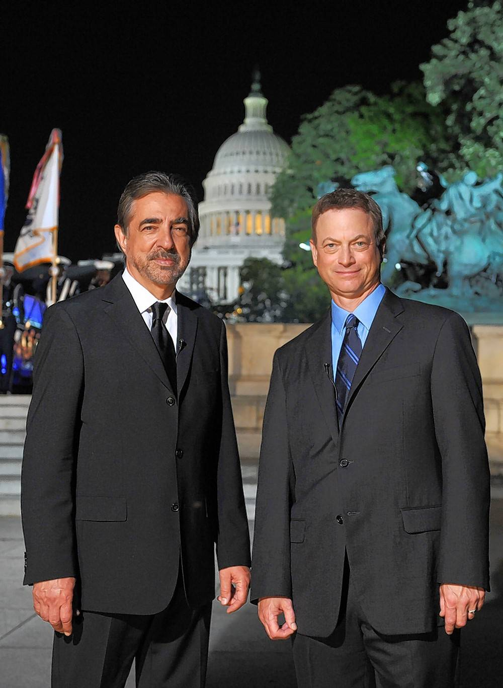 Joe Mantegna, left, and Gary Sinise return as hosts of the National Memorial Day Concert Sunday, May 27, on PBS.