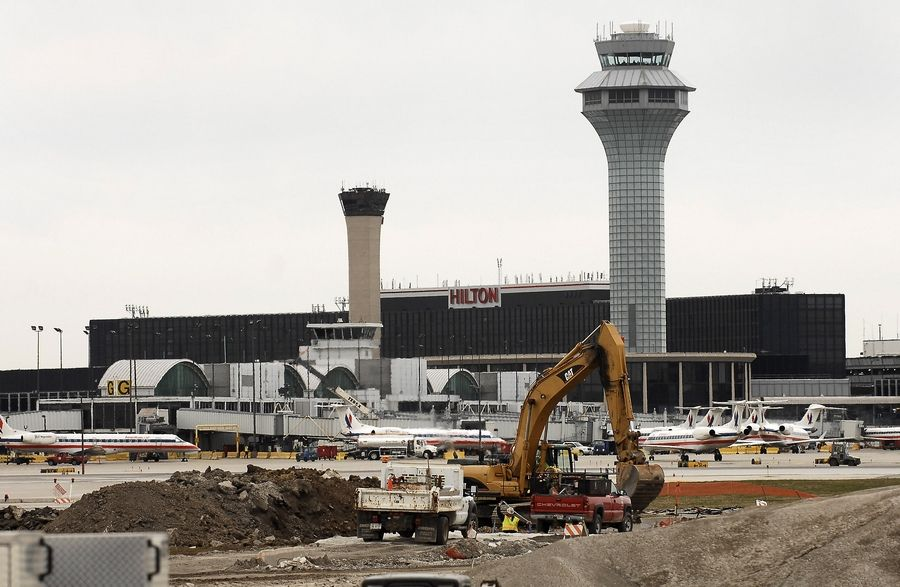 O'Hare International Airport is undergoing a shift to a new parallel runway system. Construction will wrap up with completion of the sixth parallel runway in 2020.
