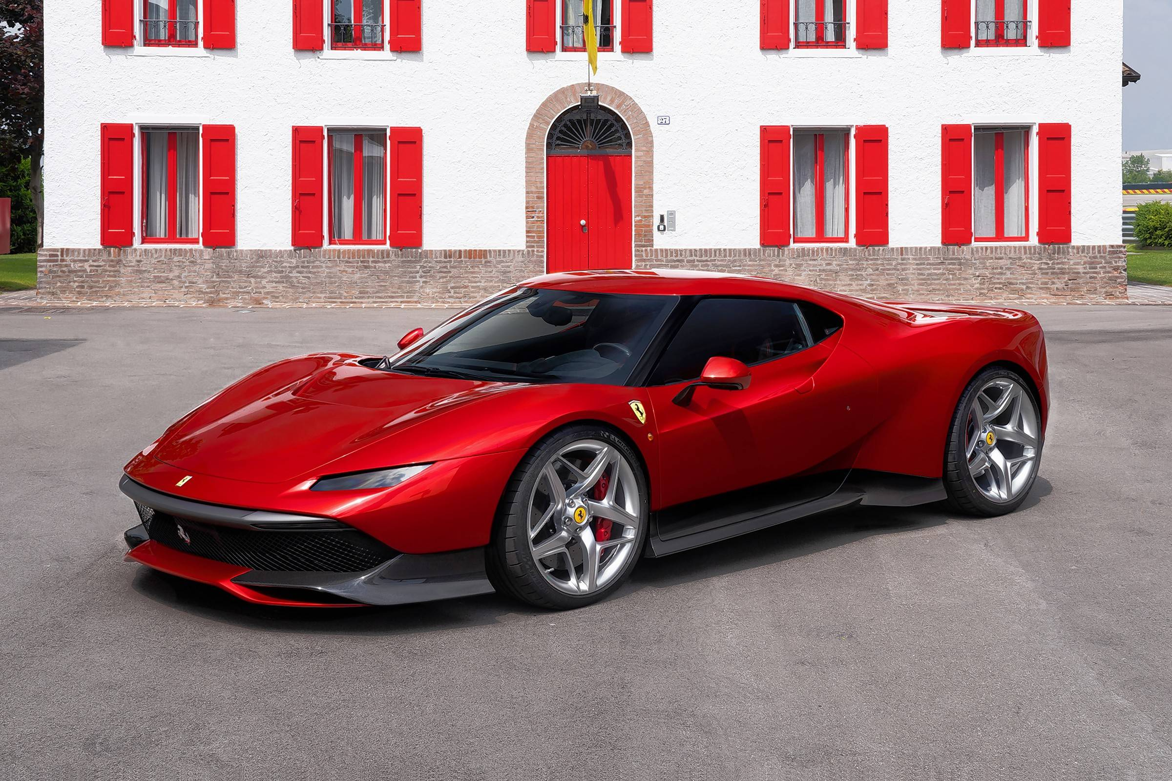 The Ferrari SP38 is a one-of-a-kind vehicle based on the 488 GTB.