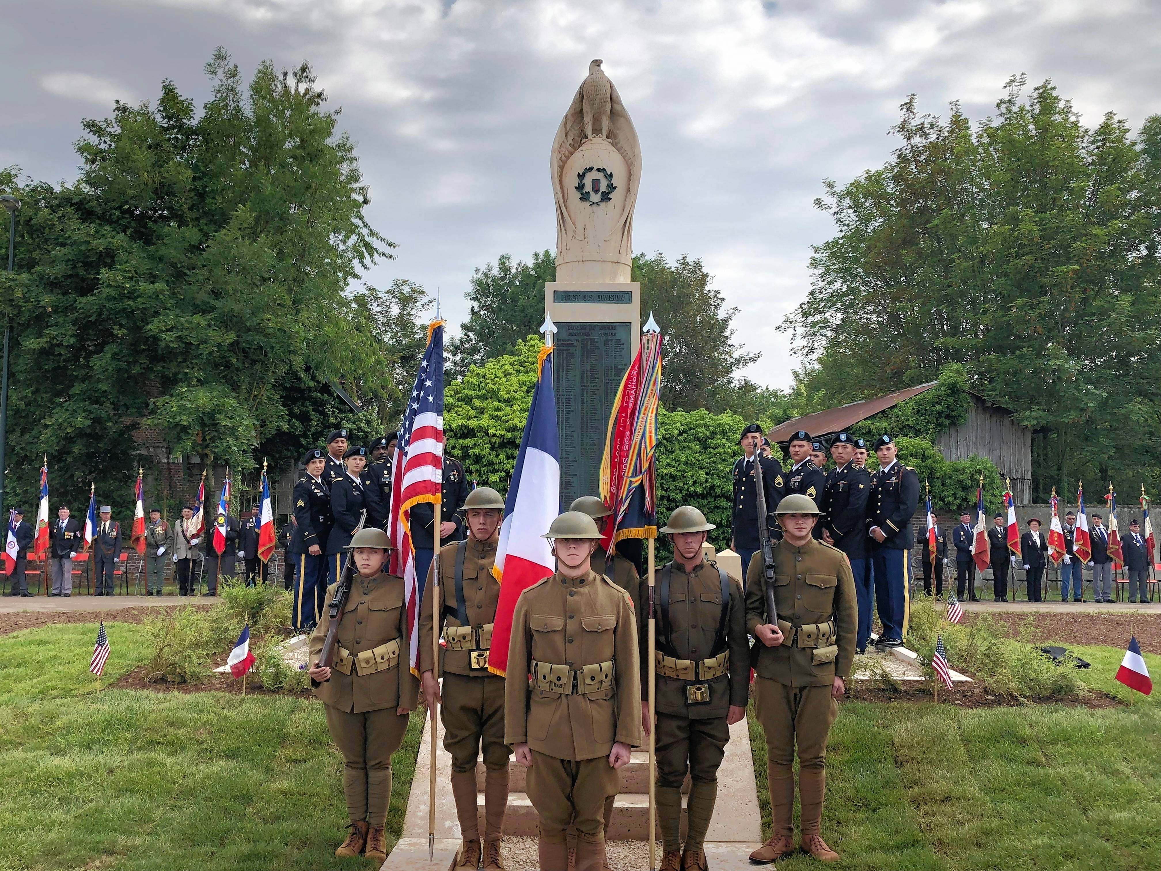 McCormick Foundation has Battle of Cantigny monument relocated in France