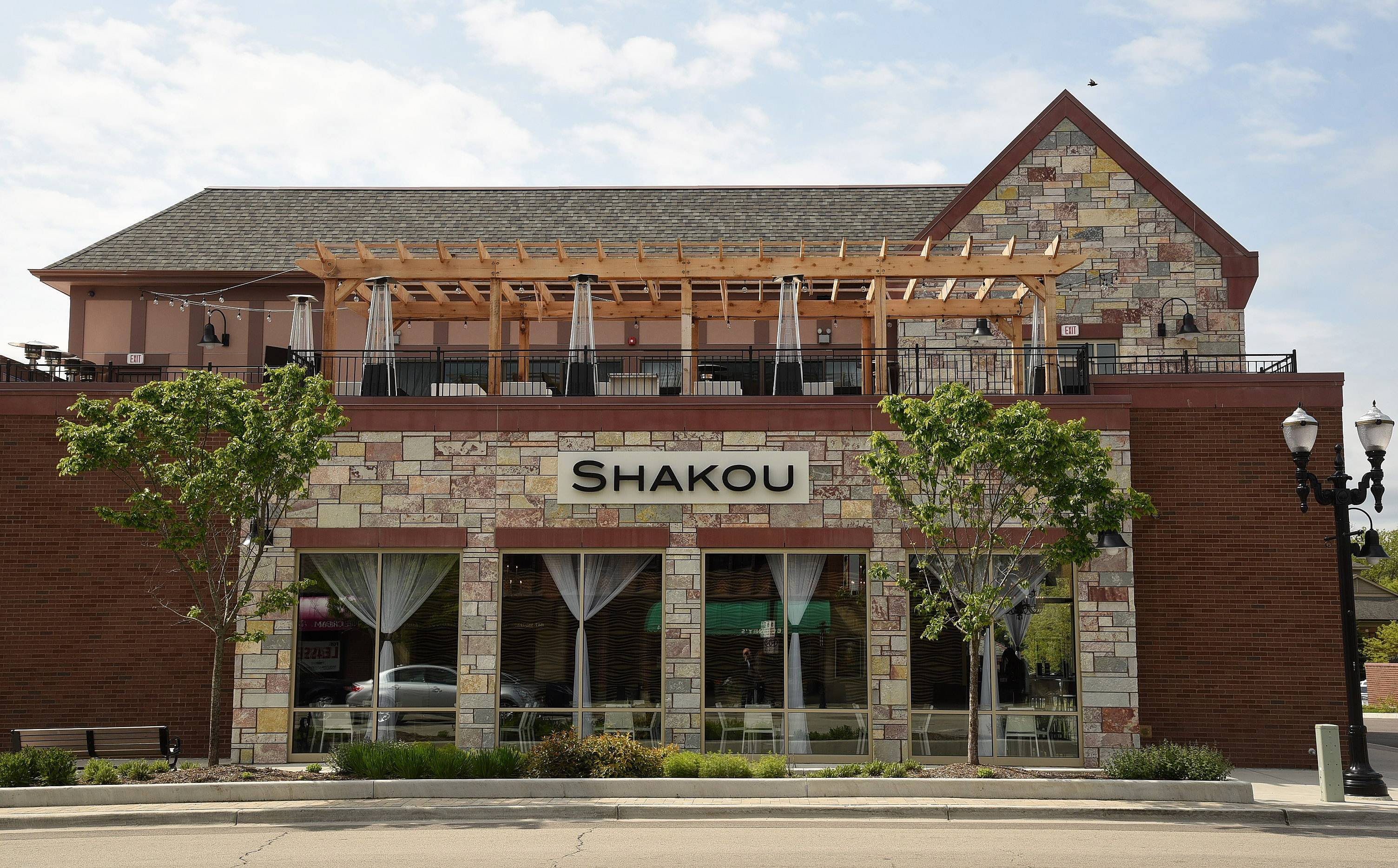 The trendy rooftop terrace at Shakou Barrington offers a unique outdoor dining experience for fans of Asian cuisine.