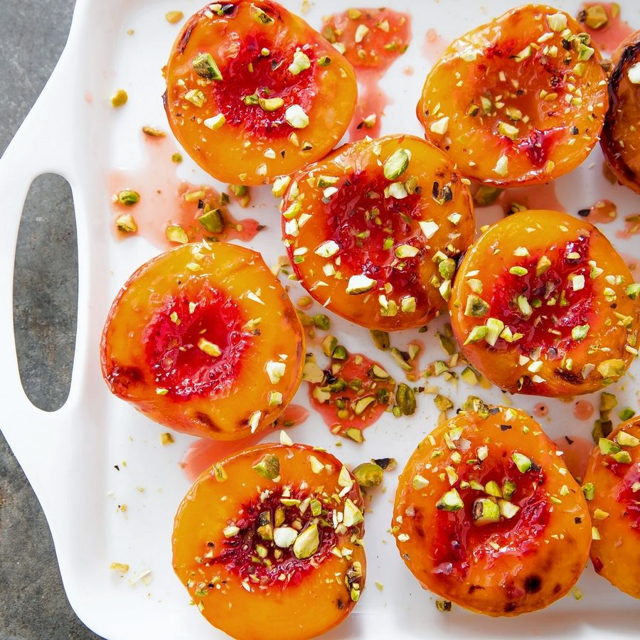 America's Test Kitchen chefs created a recipe for honey-glazed roasted peaches making for a perfect summer dessert.