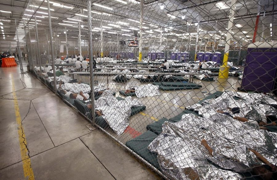 Image result for immigrant children in US detention