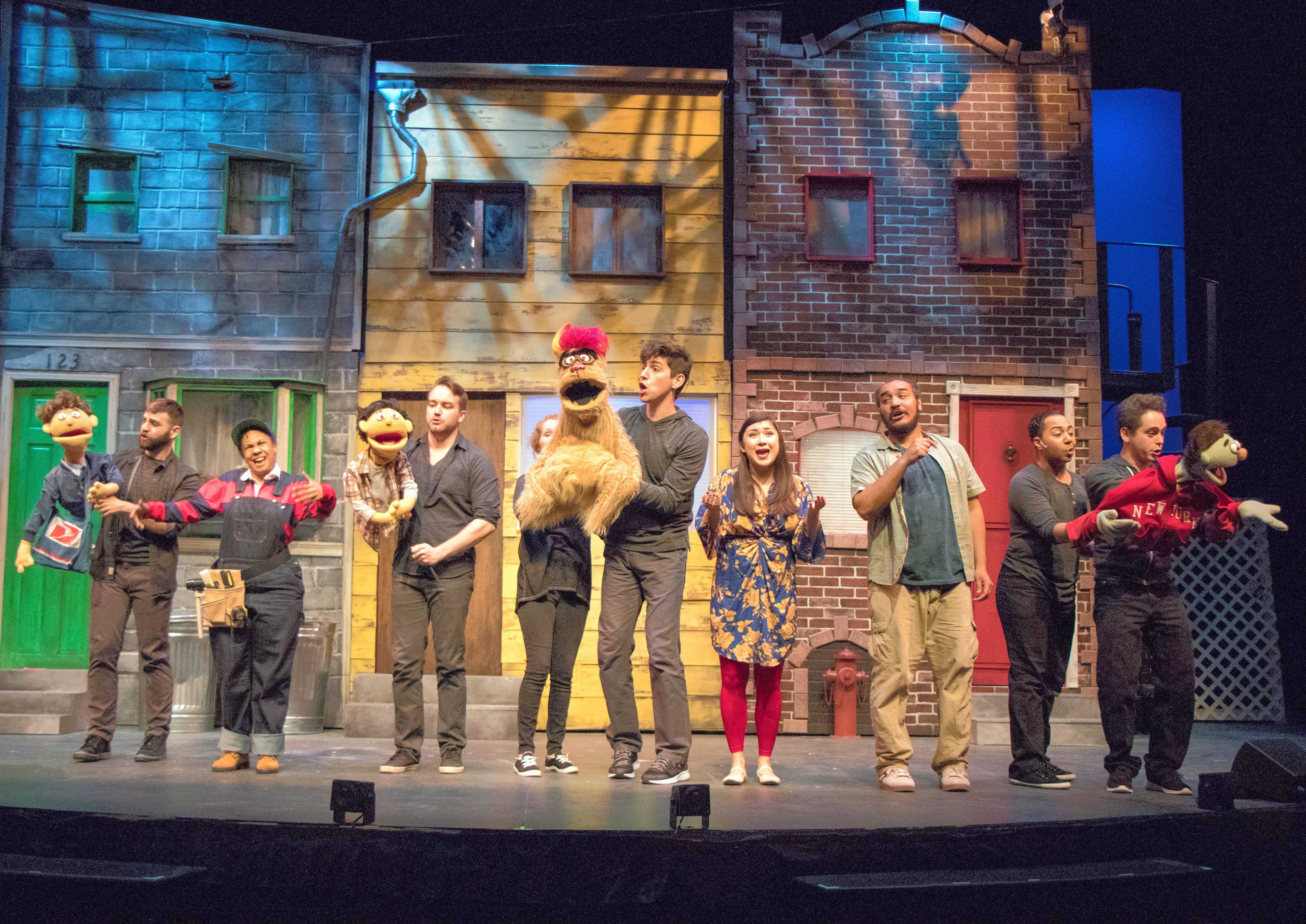 """Avenue Q,"" chronicling the personal, professional and financial crises affecting New York City 20-somethings, runs through June 30 at the Metropolis Performing Arts Centre in Arlington Heights."