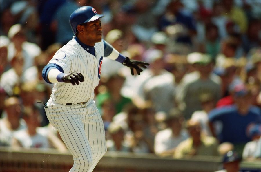 Sammy Sosa hit his 30th home run of the 1998 season on June 21 against the Philadelphia Phillies at Wrigley Field. He finished the month hitting .298 / .311 / .842 with 20 homers and 40 RBI. He ended the season with 66 home runs and 158 RBI.