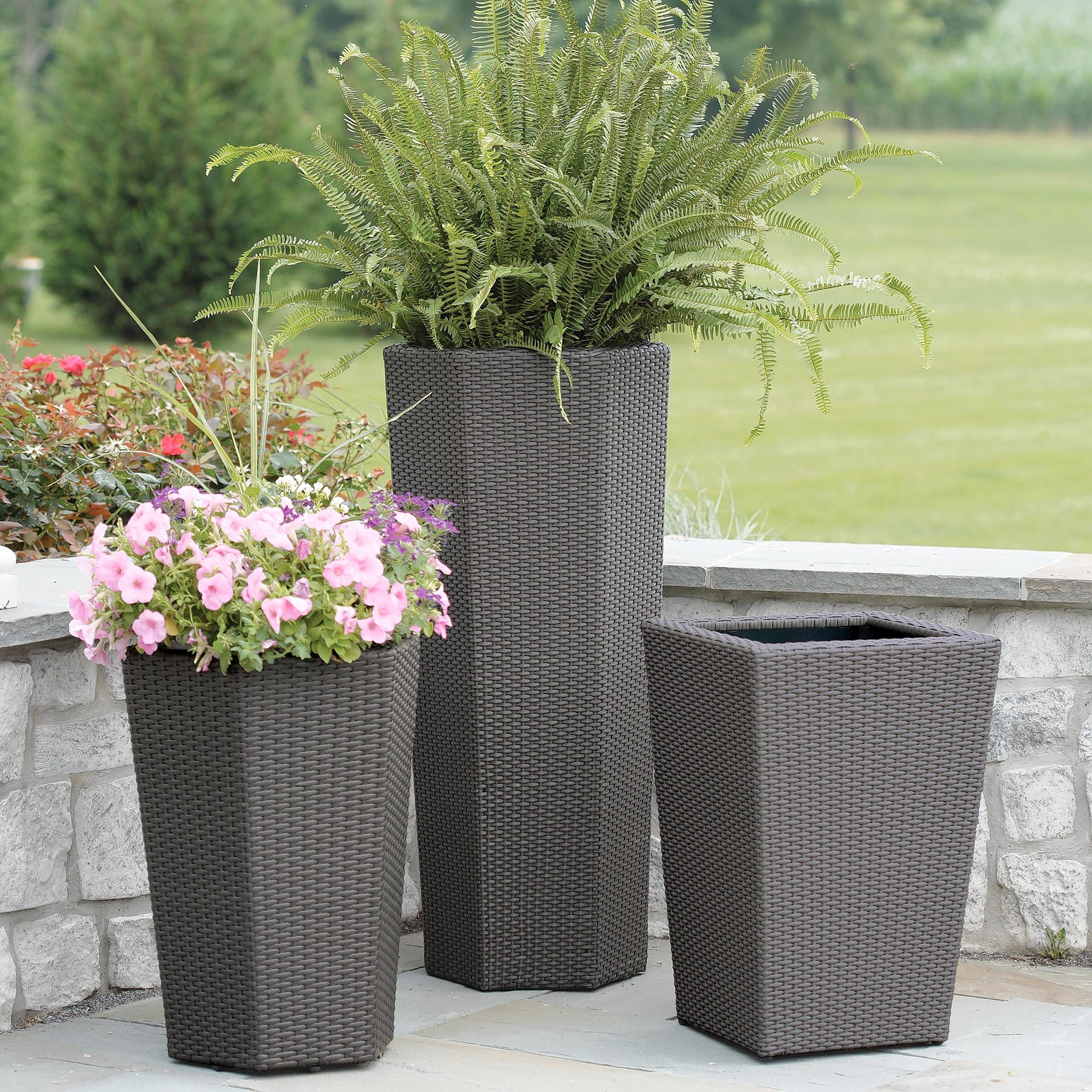 Flower planters for the patio.