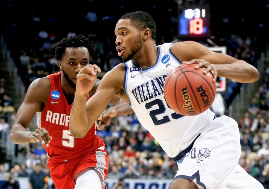 Villanova's Mikal Bridges worked out for the Bulls at the Advocate Center on Monday. Bridges seems to be the type of player the Bulls would like to target in the draft.