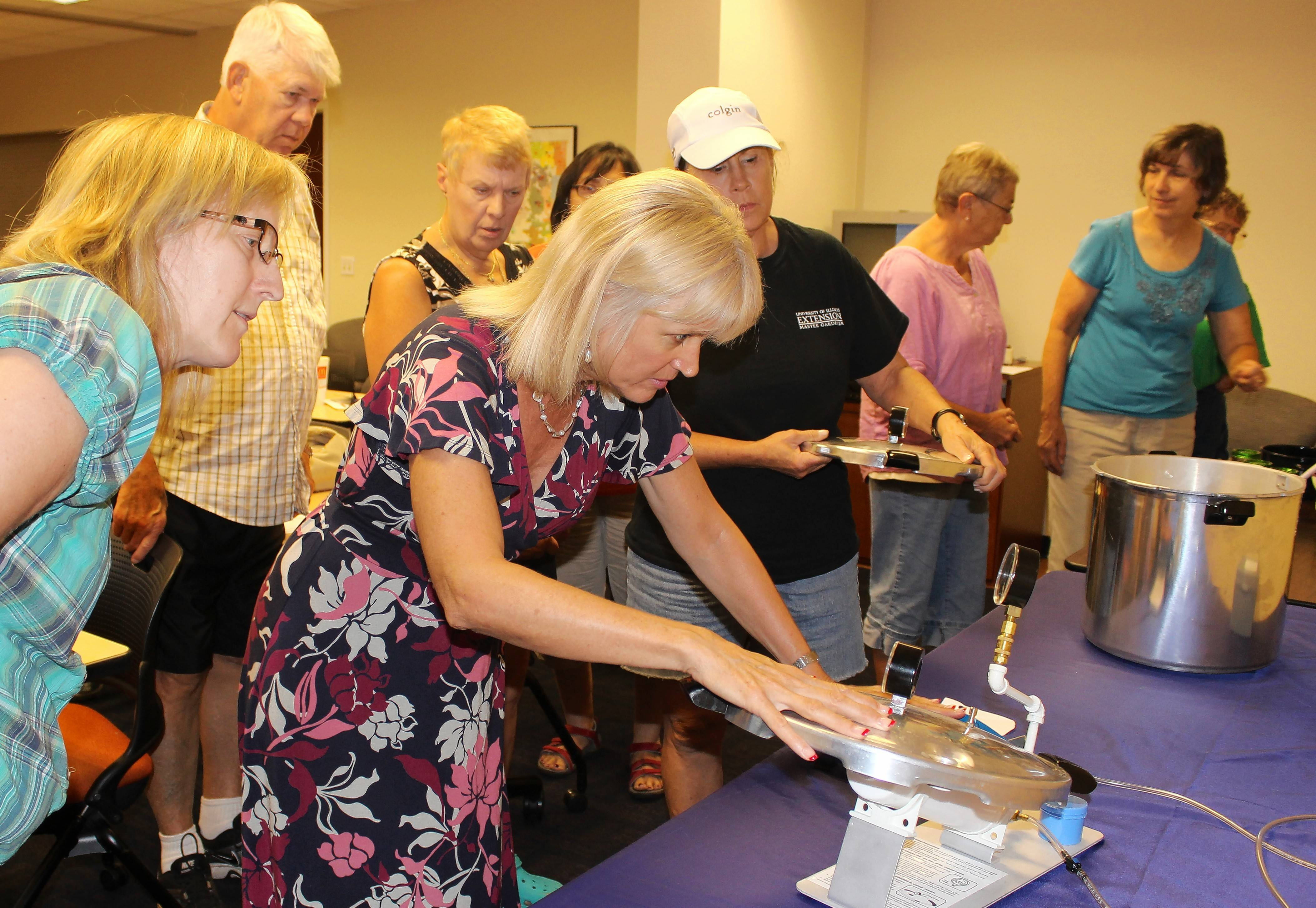 Home food preservation enthusiasts can get their pressure canner equipment tested at the University of Illinois Extension office on Tuesday, June 12.