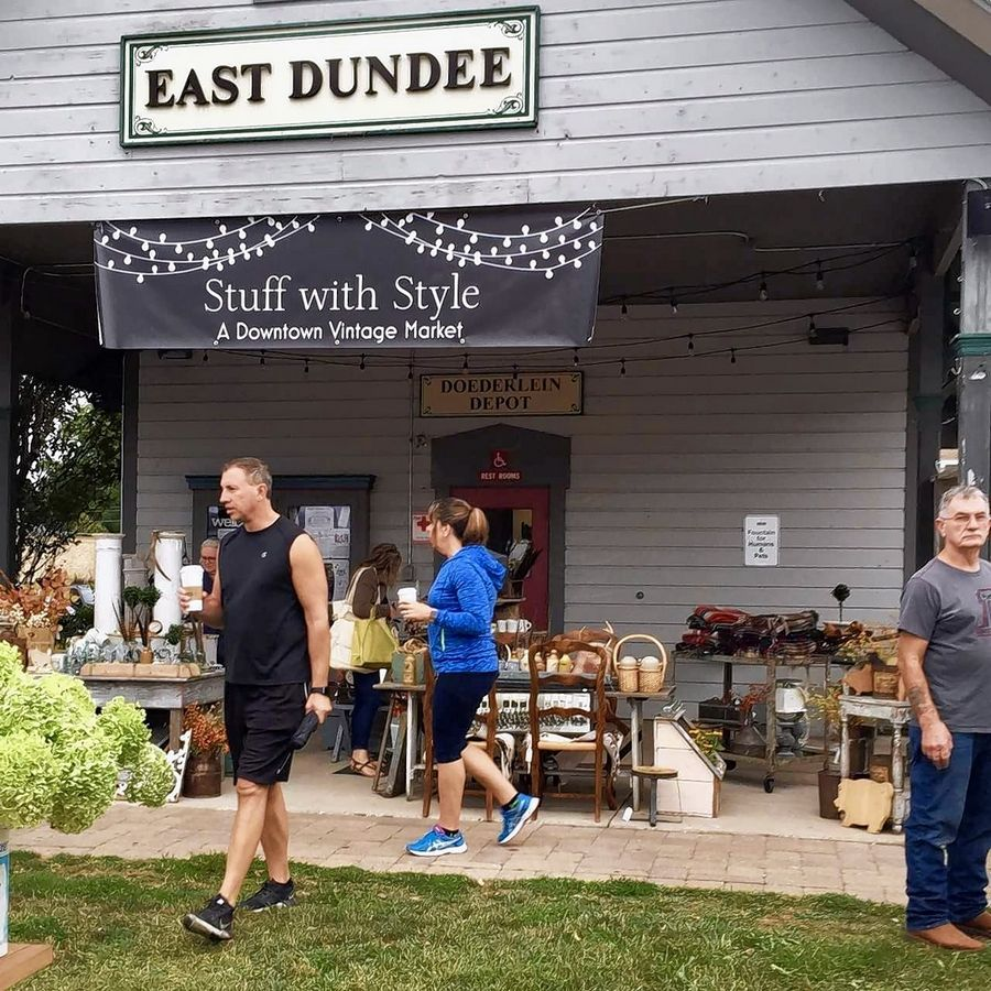 Stuff With Style, a Downtown Vintage Market, returns to East Dundee on Sunday, June 10, featuring 20 vendors.