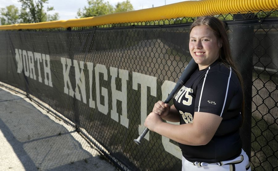Grayslake North's Grace Brown is the captain of the Lake County All-Area softball team. She set numerous school records offensively this season.