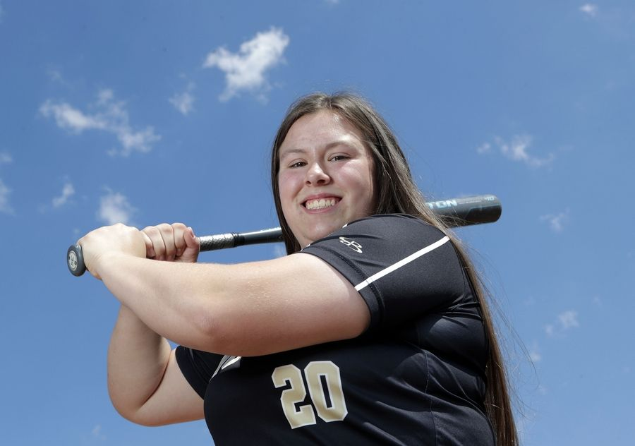 Grayslake North's Grace Brown has set numerous school records offensively this season and is the captain of the Lake County All-Area softball team.
