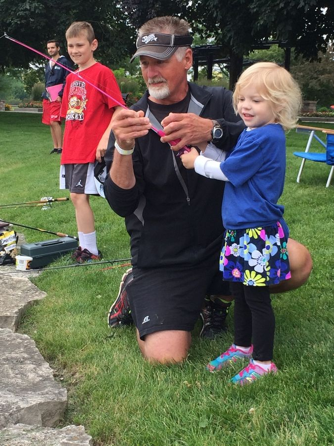 Families may fish, win prizes and enjoy lunch at Volkening Lake.