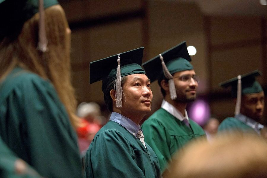 The College of DuPage honors more than 250 recipients of newly-earned High School Equivalency certificates during a ceremony June 2.